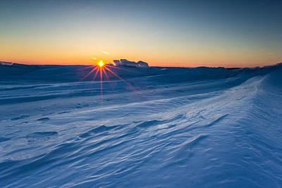 35mm Photograph - Frozen Lake Minnewaska by Aaron J Groen