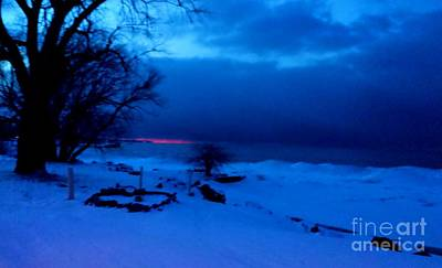 Photograph - Frozen Lake Ontario Sunset by Judy Via-Wolff