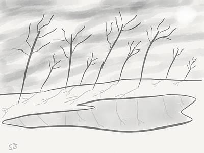 Frozen Landscape Art Print by Stacy C Bottoms