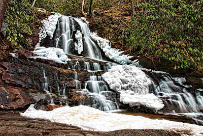 Photograph - Frozen Laurel Falls by Shari Jardina