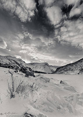 Photograph - Frozen Llyn Ogwen by Beverly Cash
