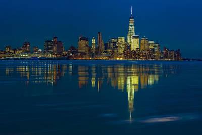 New York City Skyline Photograph - Frozen Lower Manhattan Nyc by Susan Candelario