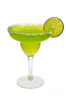 Frozen Margarita With Lime Isolated Art Print