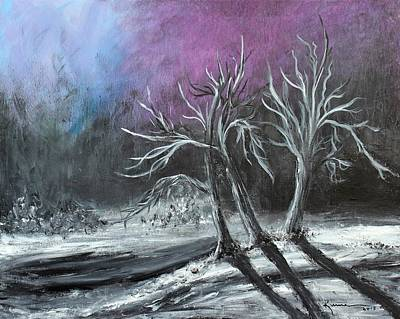 Painting - Frozen Moonlight by Kume Bryant