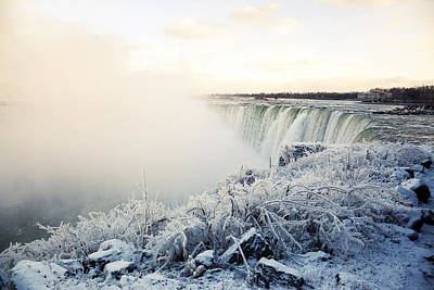 Photograph - Frozen Niagara by Alex Potemkin