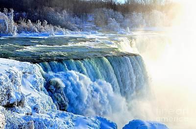 Lady Bug - Frozen Niagara Falls by Charles J Pfohl