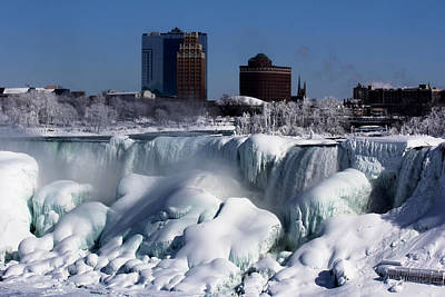 Photograph - Frozen Niagara Falls by Jerome Lynch