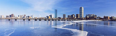 Frozen Over Charles River With Harvard Art Print by Panoramic Images