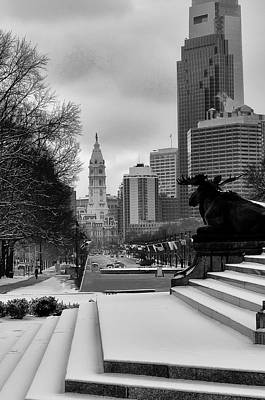 Benjamin Franklin Parkway Digital Art - Frozen Philadelphia by Bill Cannon