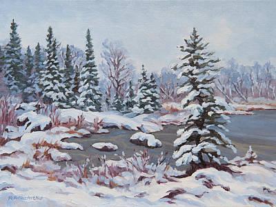 Frozen Pond Art Print by Rob MacArthur