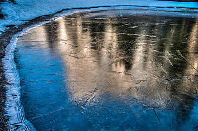 Photograph - Frozen Pond Reflection El Capitan by Connie Cooper-Edwards