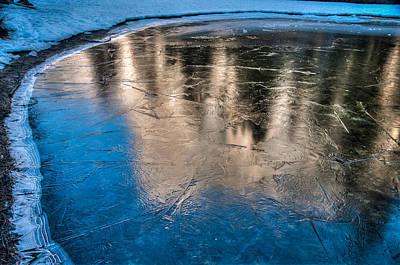 Photograph - Frozen Pond Reflection El Capitan by Connie Cooper-Edwards