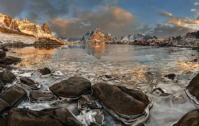 Norway Wall Art - Photograph - Frozen Reine by Jan ?m?d Master