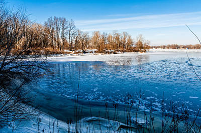 Thawing Time Photograph - Frozen River by Alain De Maximy
