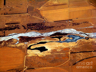 Arial View Photograph - Frozen River Below by Eva Kato