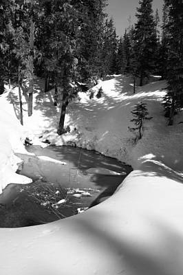 Photograph - Frozen River Bend by Angi Parks