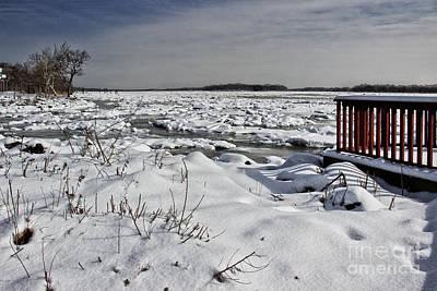 Frozen River Art Print by Tom Gari Gallery-Three-Photography