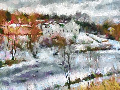 Digital Art - Frozen River by Yury Malkov