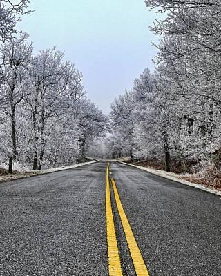 Photograph - Frozen Road by Steve Hurt
