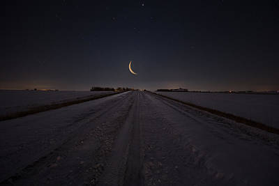 Photograph - Frozen Road To Nowhere by Aaron J Groen