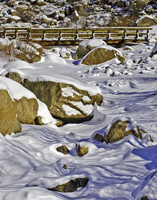 Photograph - Frozen Roaring River by Tom Wilbert