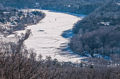 Photograph - Frozen Shenandoah River by Lara Ellis
