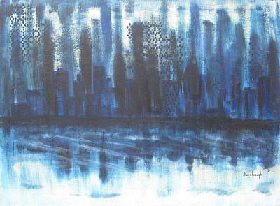 Frozen Skyline Art Print