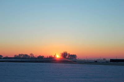 Photograph - Frozen Sunrise by Trent Mallett