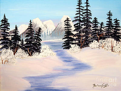 Cold Temperature Painting - Frozen Tranquility by Barbara Griffin
