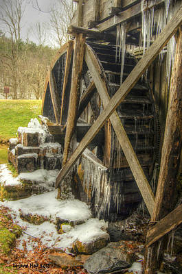 Frozen Water Wheel Art Print