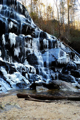 Photograph - Frozen Waterfall by Adam LeCroy