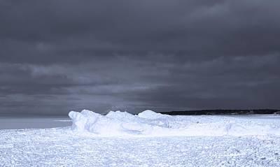 Frozen Wave On Lake Michigan Art Print by Dan Sproul
