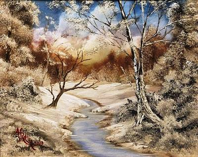 Wet On Wet Painting - Frozen Wilderness by Alfred Stringer