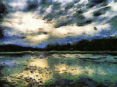 Painting - Frozen Winter Lake by Derek Gedney