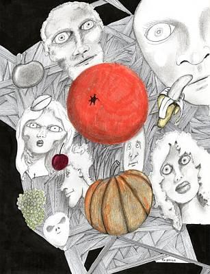 Fruit Afloat Art Print by Dan Twyman