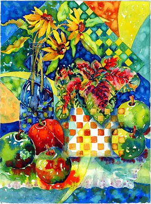 Painting - Fruit And Coleus by Ann  Nicholson