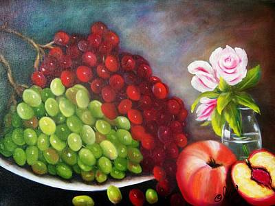 Roses Painting - Fruit And Flowers by Joni McPherson