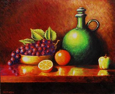 Etc Painting - Fruit And Jug by Gene Gregory