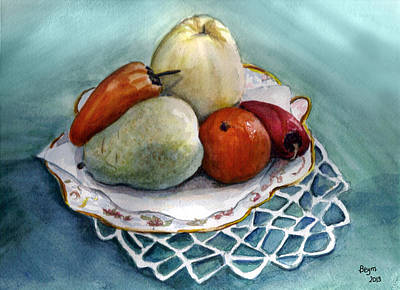 Painting - Fruit And Peppers by Clara Sue Beym