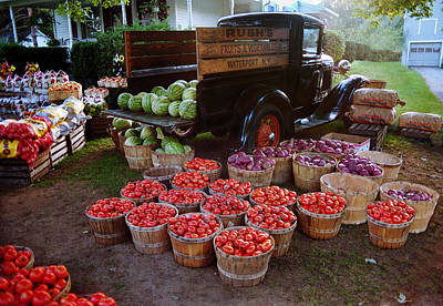 Photograph - Fruit And Vegetable Stand Truck by Tom Brickhouse