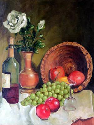 Fruit And Wine Original by Gina Haining