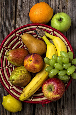 Fruit Basket Art Print by Garry Gay