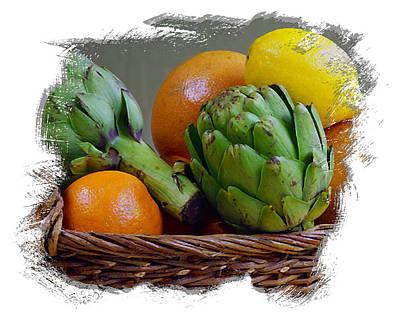 Grapefruit Digital Art - Fruit Basket II by Ken Evans