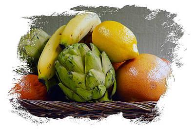 Grapefruit Digital Art - Fruit Basket Iv by Ken Evans