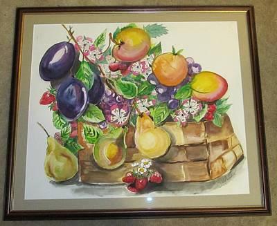 Fruit Basket Art Print by Lana McCullars