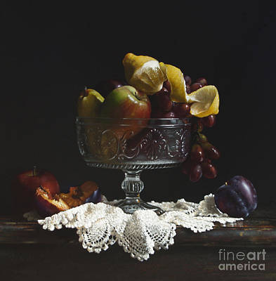 Crystal Painting - Fruit Bowl by Larry Preston