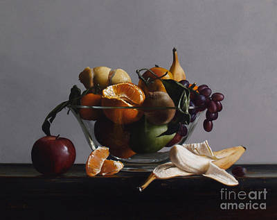 Bananas Painting - Fruit Bowl No.2 by Larry Preston