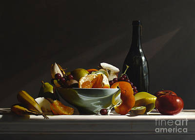 Kiwi Painting - Fruit Bowl No.3 by Lawrence Preston