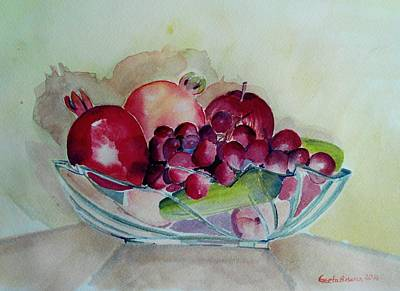 Painting - Fruit Bowl Still Life by Geeta Biswas