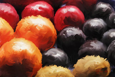 Pallet Knife Digital Art - Fruit Bowl by Vincent Franco